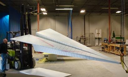 16-foot-long paper airplane designed for a corporate lobby