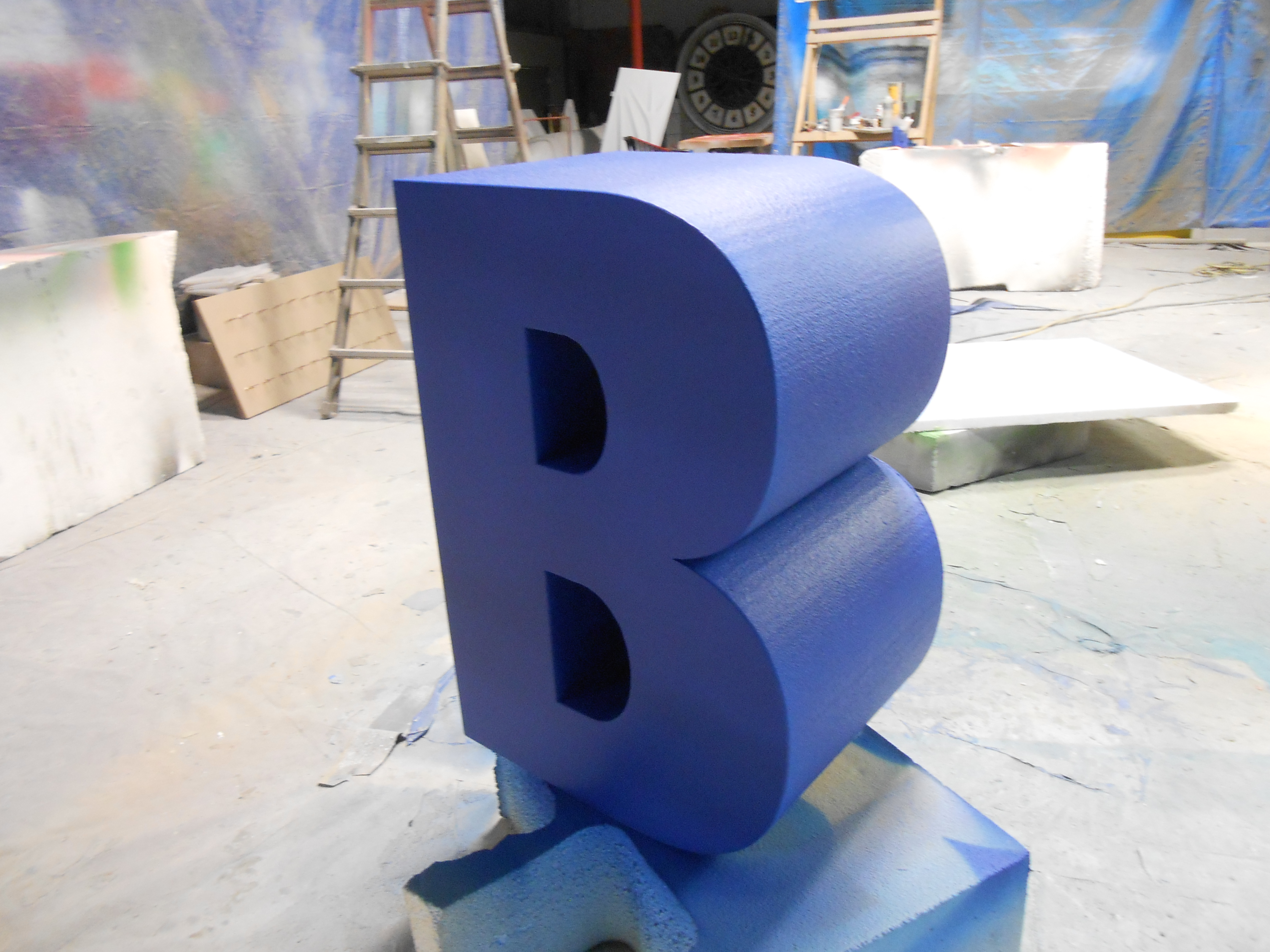 3d yellow 2 polystyrene letters oversized letters for events marketing trade shows from 934