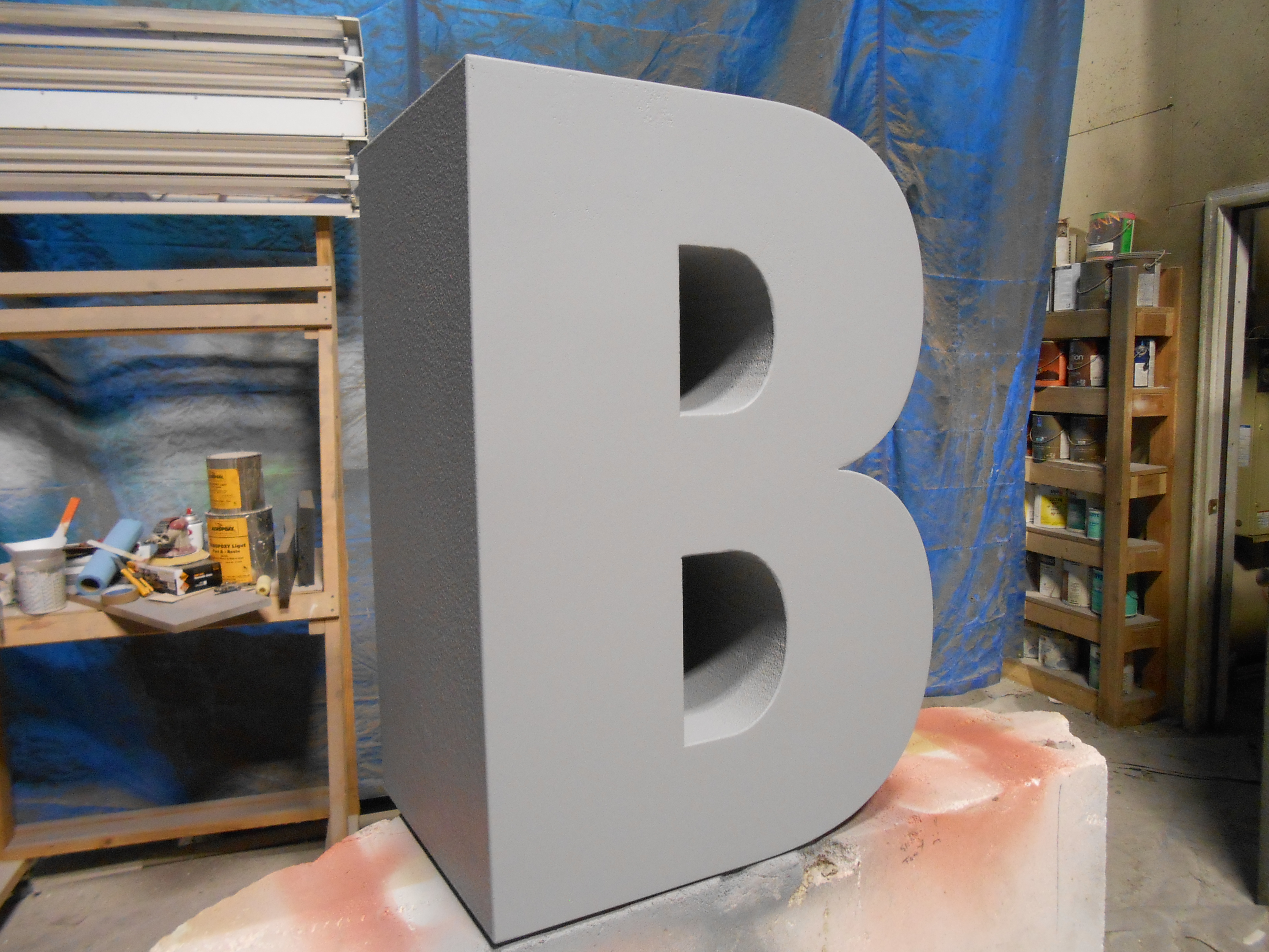 giant foam letters spelling the word big