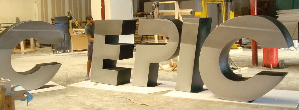 oversized foam letters spelling epic